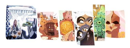Antoni Gaudi - Google ehrt spanischen Architekten mit Doodle.