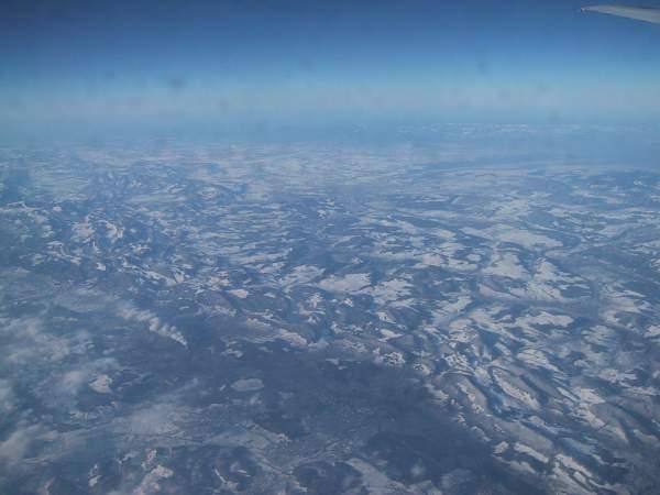 flugzeug im schnee