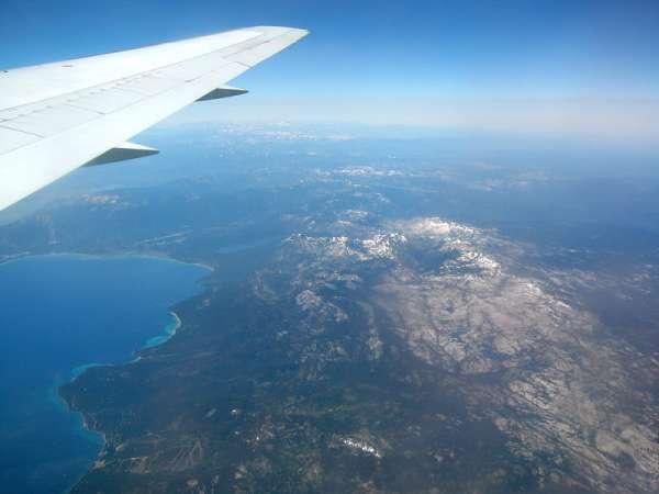 Blick Vom Flugzeug Auf Die Sierra Nevada Spanien Bilder