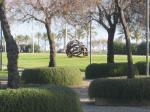 Park vor der Kathedrale Palma de Mallorca