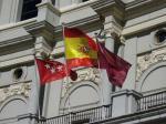 Fahne von Madrid und Spanien